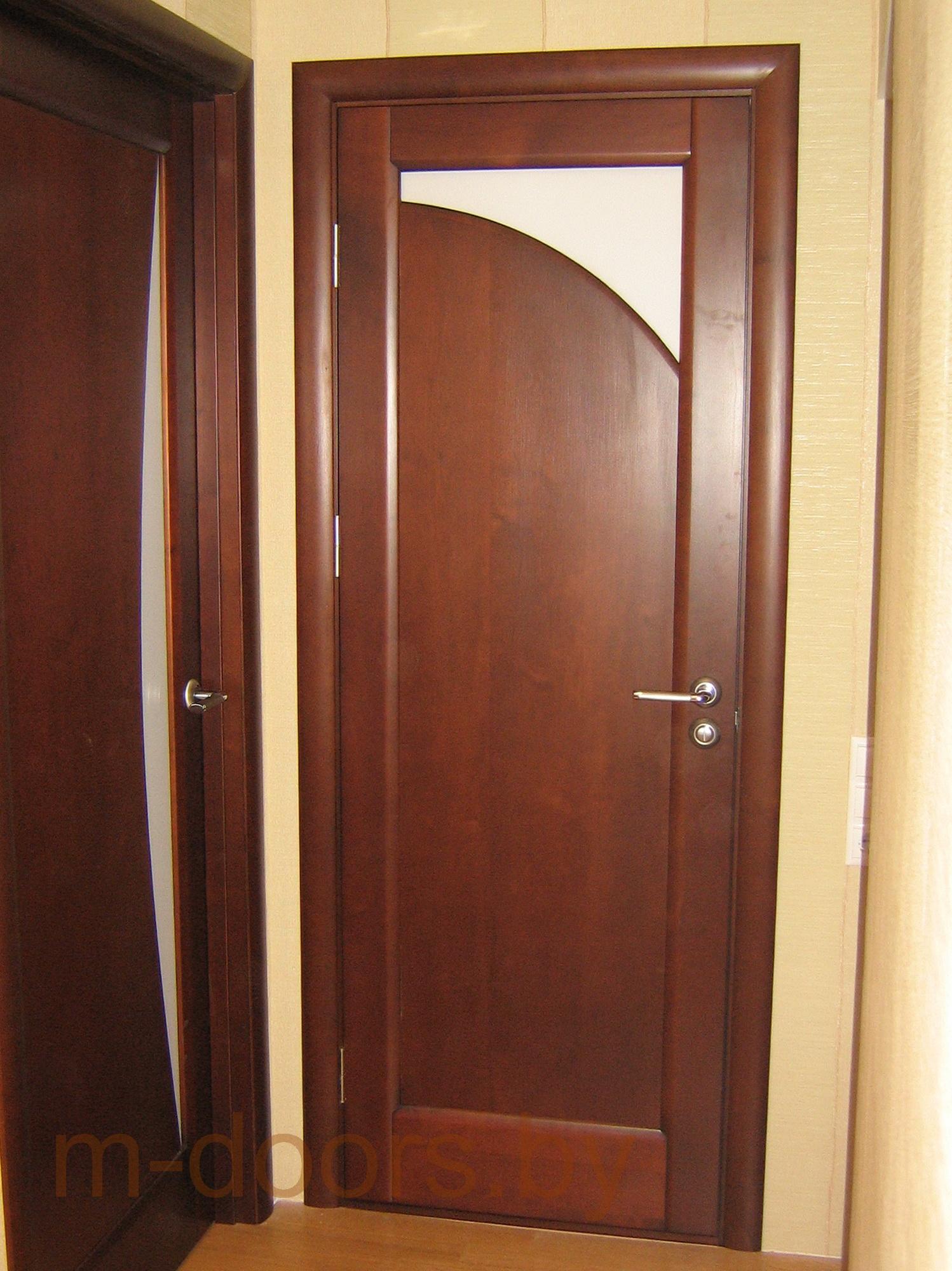 Дверь Луна-2 массив дуба(С)