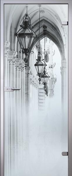 Дверь стеклянная Аркада (полный комплект)