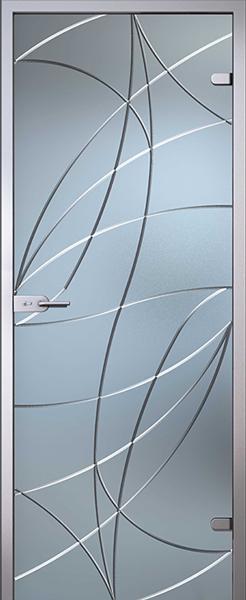 Дверь стеклянная Аврора (полный комплект)