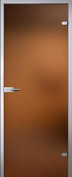 Дверь стеклянная Лайт бронза (полный комплект)