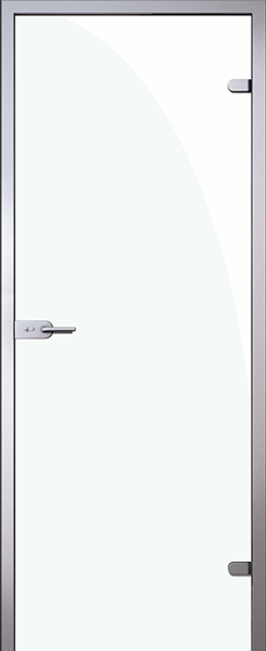 Дверь стеклянная Триплекс белый (полный комплект)