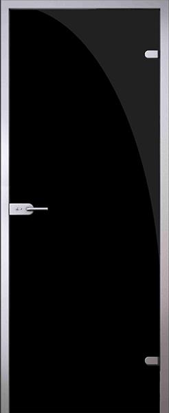 Дверь стеклянная Триплекс черный (полный комплект)