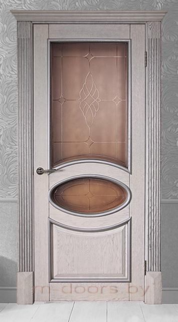 Дверь Овал ДО массив дуба(С)