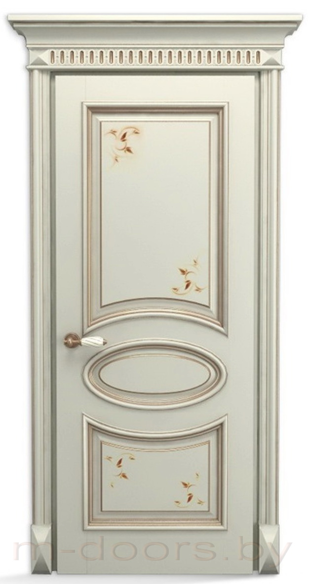 Дверь Овал ДГ массив дуба (С)